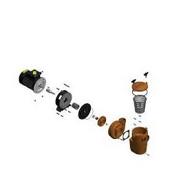 Pumpeaksel 0,37-0,55 kw Pahlen bronsepumpe