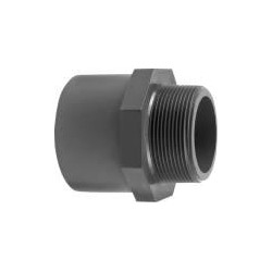"""Ovg.nippel 50x40 mm x 1 1/4"""" pvc"""