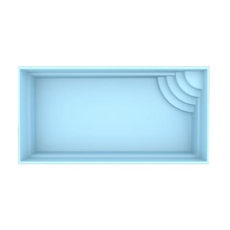 Glassfiberbasseng Bern 600x300x150 cm