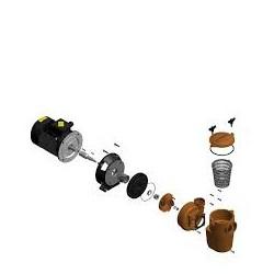 Pumpe aksel 0,37-1,1kw GF/ -0,55 ATB / -1,5 P01 Pahlen pumpe