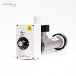 El varmer 3 kW / ink.1 fas Sikk.termostat / Syrefast trusk