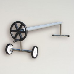 Opprullings stativ for boble trekk , med hjul.