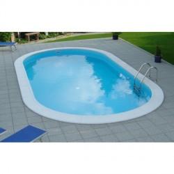 Stål basseng 4,16 m x 8 m Oval modell