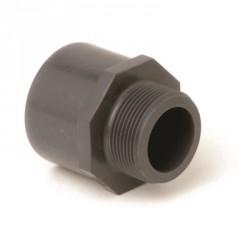 """Ovg.nippel 63x50 mm x 1 1/2"""" pvc"""