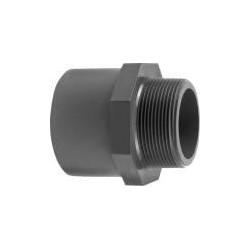 """Ovg.nippel 32x25 mm x 3/4"""" pvc"""