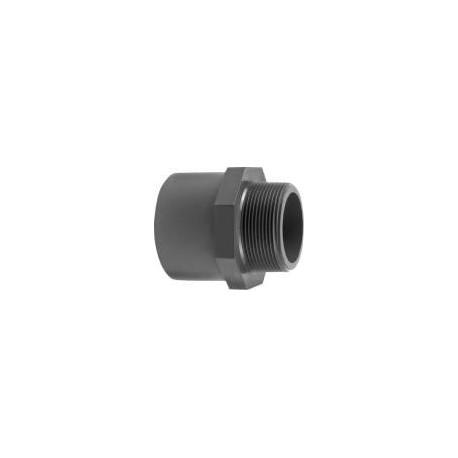 """Ovg.nippel 50x40 mm x 1 1/2"""" pvc"""
