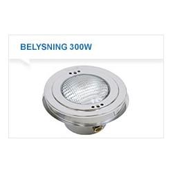 Undervannslys for betong basseng. type 300 CA. 300W 12V