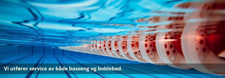 Vi utfører service av både basseng og boblebad